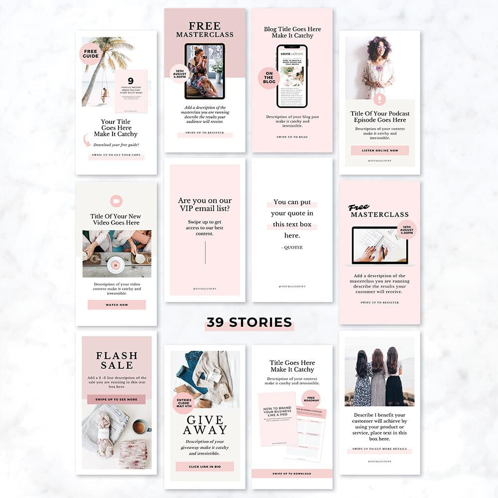 stories templates